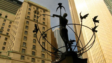 PHOTO: The Monument to Multiculturalism is pictured in front of Union Station in Toronto.