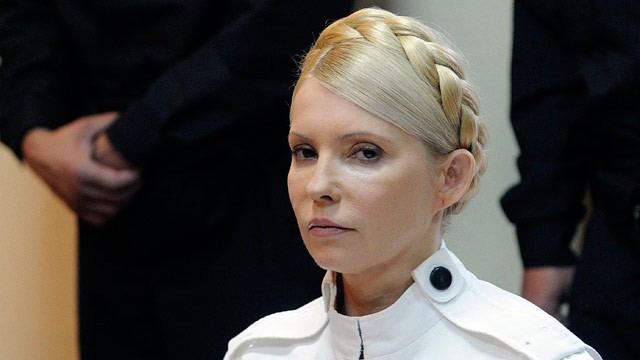 PHOTO: Former Ukrainian Prime Minister Yulia Tymoshenko appears during a trial hearing at the Pecherskiy District Court in Kiev, Ukraine, in this June 29, 2011 file photo.