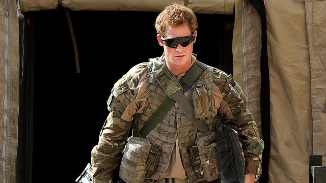 PHOTO: Prince Harry is shown at the British controlled flight-line in Camp Bastion southern Afghanistan, Oct. 31, 2012.