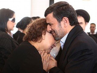 Ahmadinejad Slammed for Hugging Chavez's Mom