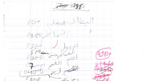 ap al qaeda receipt ll 131230 16x9 608 Whats on Al Qaedas Grocery List?