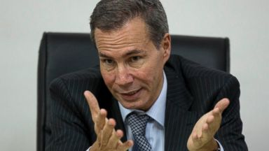 PHOTO: In this May 29, 2013, file photo, Alberto Nisman, the prosecutor investigating the 1994 bombing of the Argentine-Israeli Mutual Association community center, talks to journalists in Buenos Aires, Argentina.