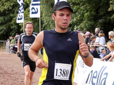 PHOTO: In this Sunday, Sept. 13, 2009 photo, Andreas Lubitz competes at the Airportrun in Hamburg, northern Germany.