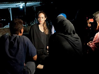 Angelina Jolie Visits Syrian Refugee Camp