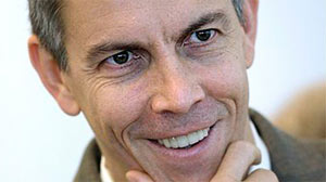 A Nov. 13, 2008 file photo shows Chicago Public Schools chief Arne Duncan smiling during a news conference in Chicago.  Now, as U.S. education secretary, he has $100 billion in stimulus funds to spend on education in the next t