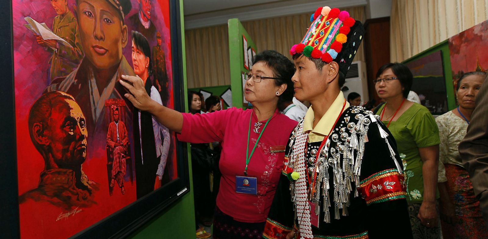 PHOTO: Vistors at Myanmar Convention Center