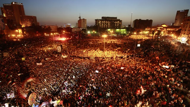 PHOTO:&nbsp;Egyptians gather at Tahrir Square in Cairo to call for a new revolution in Egypt, Saturday, June 2, 2012.