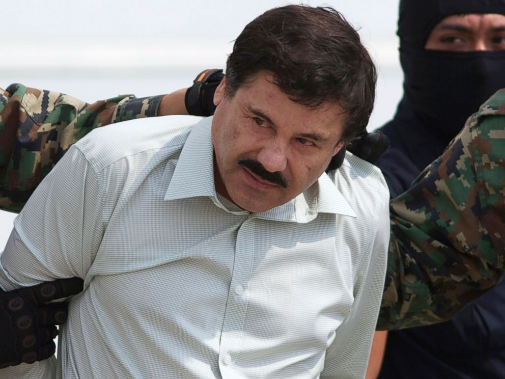 PHOTO: In this Feb. 22, 2014, file photo, Joaquin El Chapo Guzman, head of Mexico?s Sinaloa Cartel, is seen in custody in Mexico City following his capture in the beach resort town of Mazatlan.