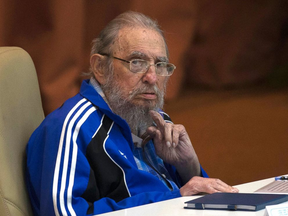 PHOTO: Fidel Castro attends the last day of the 7th Cuban Communist Party Congress in Havana, Cuba, on April 19, 2016.