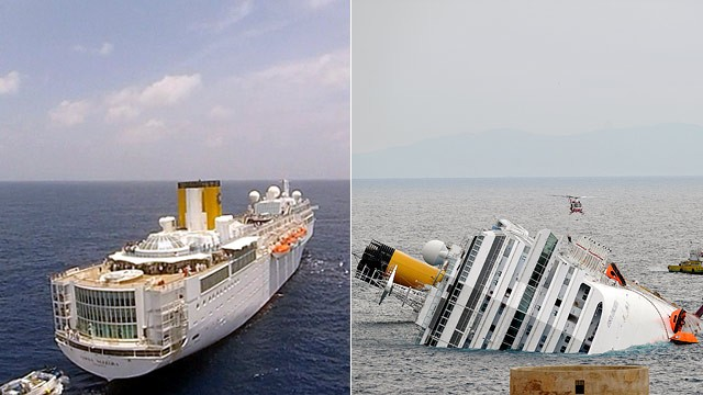 PHOTO: The Costa Allegra and Costa Concordia Cruise Ships