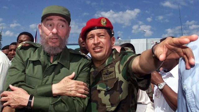 PHOTO: Hugo Chavez and Fidel Castro