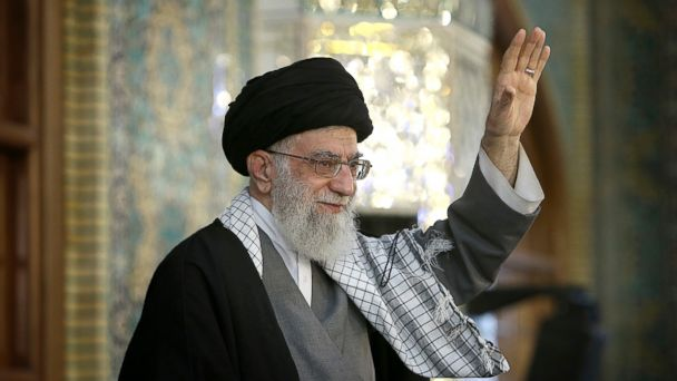 PHOTO: In this picture released by official website of the office of the Iranian supreme leader on Tuesday, March 21, 2017, Supreme Leader Ayatollah Ali Khamenei waves to a crowd in his trip to the northeastern city of Mashhad, Iran.