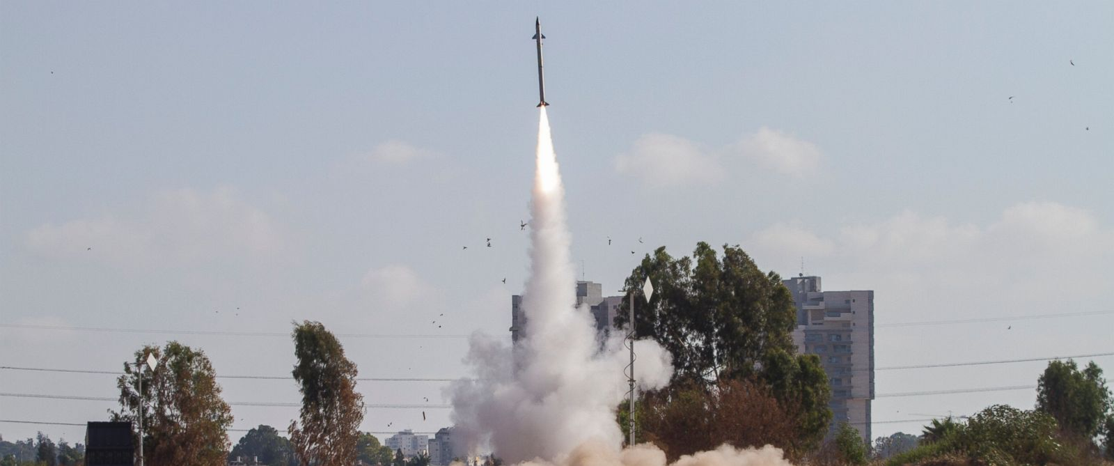 PHOTO: In this July 9, 2014 file photo, an Iron Dome air defense system fires to intercept a rocket from the Gaza Strip in Tel Aviv, Israel.