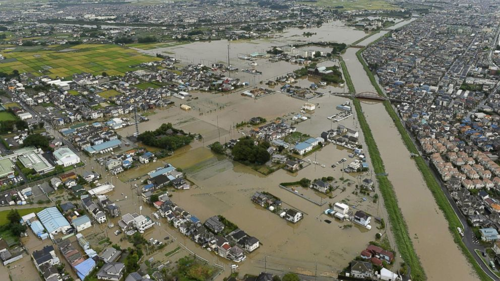 Dramatic Photos From the Raging Floods in Japan - ABC News
