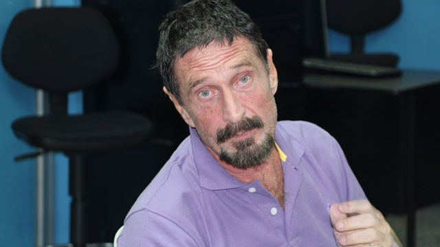 PHOTO: Software company founder John McAfee is pictured after being arrested for entering the Guatemala illegally, Dec. 5, 2012, in Guatemala City.