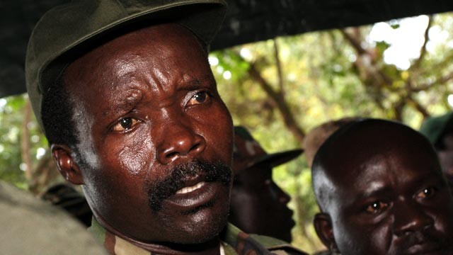 PHOTO: The leader of the Lords Resistance Army, Joseph Kony answers journalists questions in this Nov. 12, 2006 file photo.