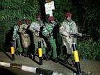 PHOTO: Kenyan Defense Forces leave the near vicinity of  the Westgate Mall in Nairobi Kenya, Sept. 23 2013.