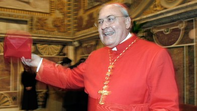PHOTO: New Cardinal Leonardo Sandri from Argentina poses during a meeting with relatives and friends at the Vatican, Nov. 24, 2007.