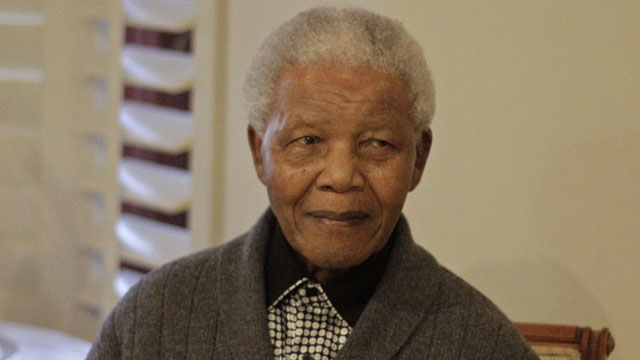 PHOTO:In this July 18, 2012 file photo, former South African President Nelson Mandela as he celebrates his birthday with family in Qunu, South Africa.