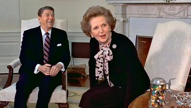 PHOTO: Margaret Thatcher and Ronald Reagan