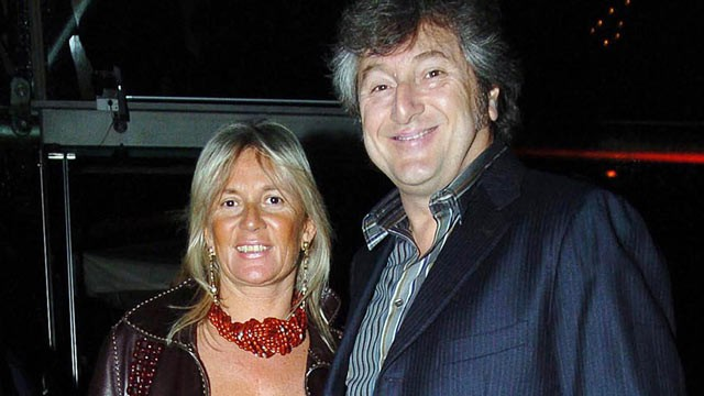 PHOTO: Vittorio Missoni, right, and his wife Maurizia Castiglioni are seen in Milan, Italy, March 30, 2005.