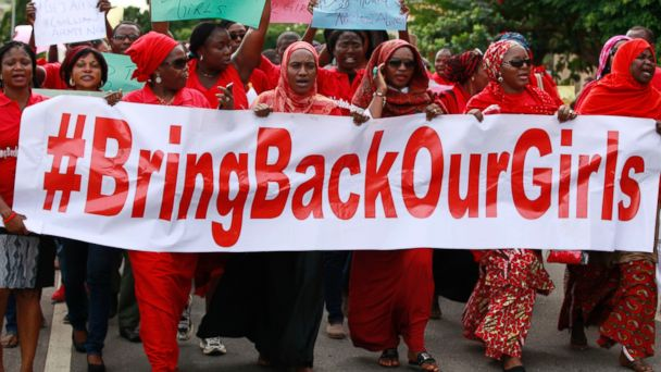 ap nigeria protest kb 140514 16x9 608 Reports of 60 Escaped Nigerian Girls Are Accurate, US Says