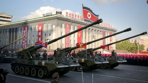 PHOTO: In this Saturday, Oct. 10, 2015, photo, missiles and rockets are paraded in Pyongyang, North Korea during the 70th anniversary celebrations of its ruling party's creation.