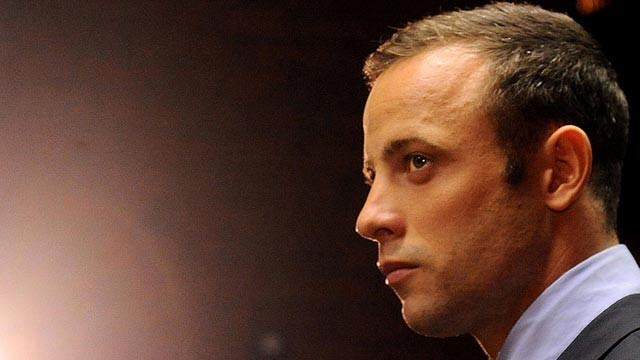 PHOTO: Olympic athlete, Oscar Pistorius , in court, Feb. 22, 2013, in Pretoria, South Africa, for his bail hearing charged with the shooting death of his girlfriend, Reeva Steenkamp.