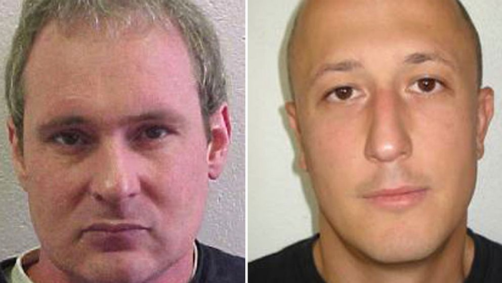 PHOTO: Adrian Albrecht, left, and Milan Poparovic escaped from a Swiss prison on July 25, 2013 after accomplices rammed a gate and fired at guards, police said.