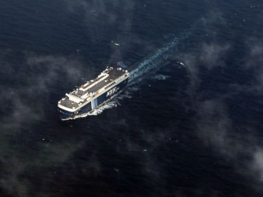PHOTO: A vessel is seen from an Antonov AN-26 aircraft of the Vietnam Air Force during a search operation for a missing Malaysia Airlines Boeing 777 over the Gulf of Thailand between Malaysia and Vietnam on March 11, 2014.