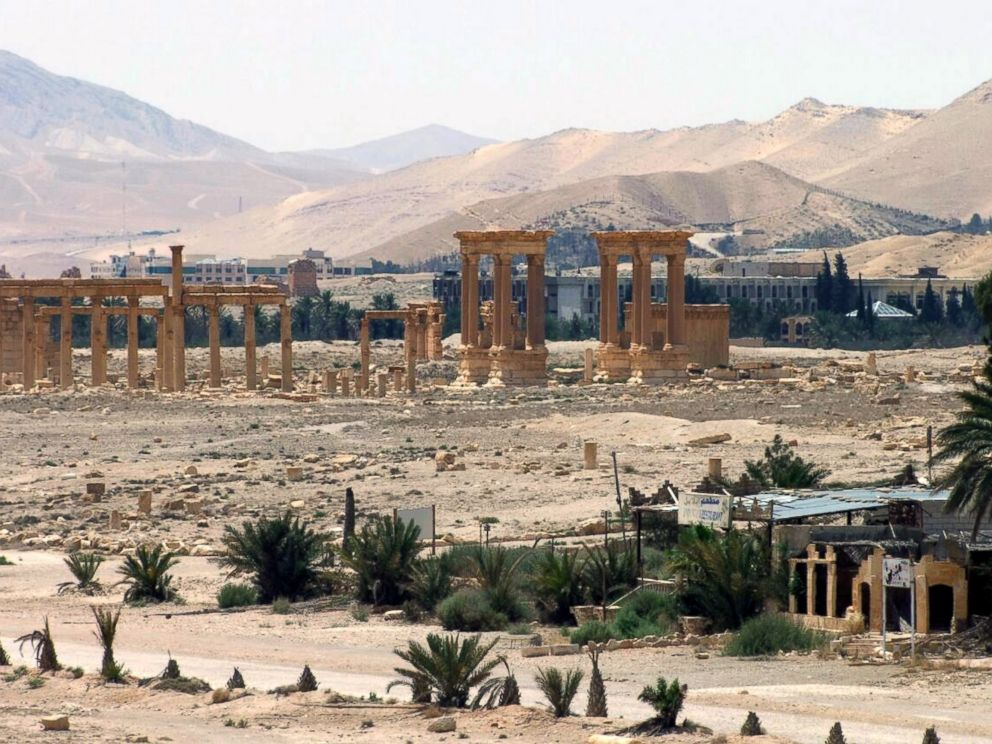 PHOTO: This file photo released on Sunday, May 17, 2015, by the Syrian official news agency SANA, shows the general view of the ancient Roman city of Palmyra, northeast of Damascus, Syria.