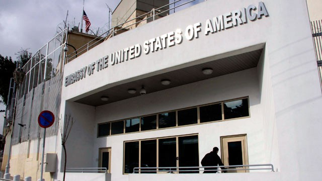 PHOTO: The U.S. embassy building is seen in Damascus, Syria, in this Jan. 12, 2011 file photo.