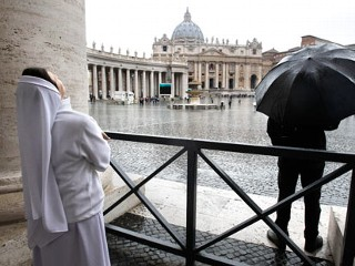 Black Smoke Emerges in Second Papal Vote