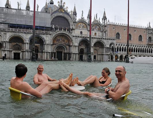 Venice Floods as Torrential Rain Hits the City