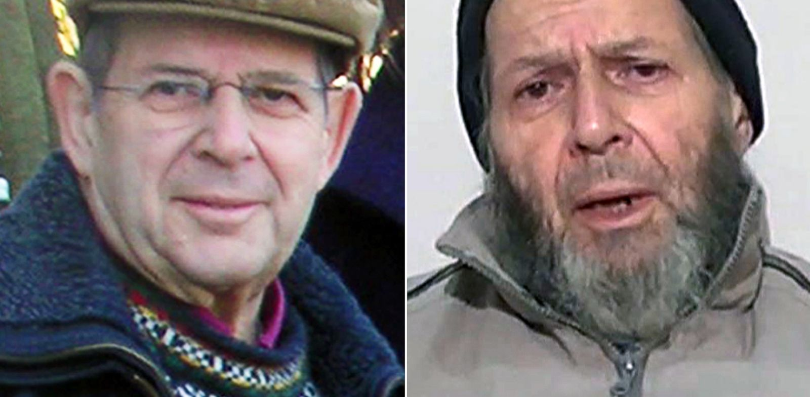 PHOTO: Warren Weinstein is shown in a Jan. 6, 2009 photo, left, and in a still from video released anonymously to reporters in Pakistan, Dec. 26, 2013.