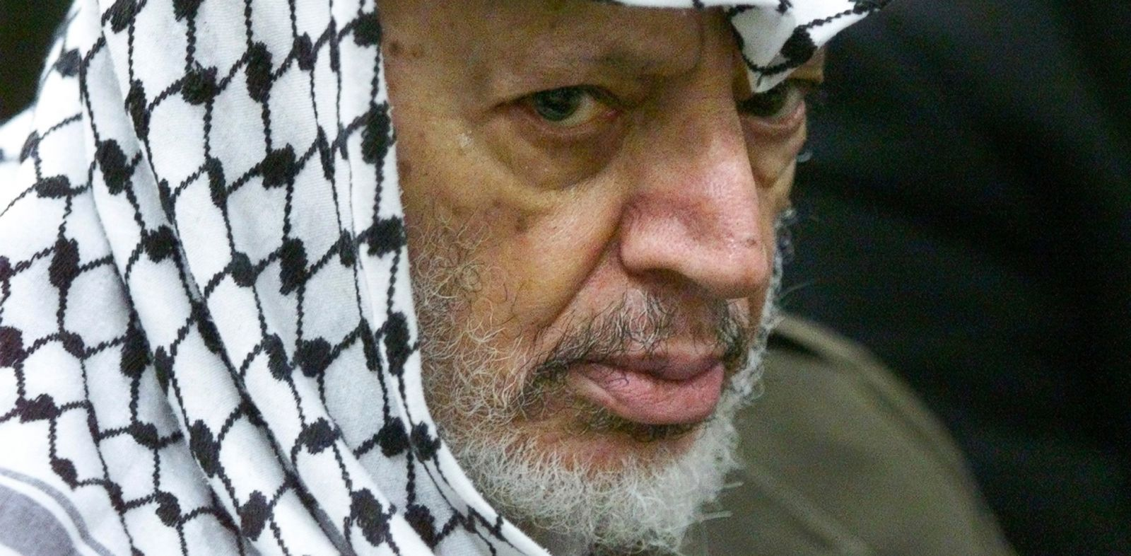 PHOTO: In this May 31, 2002 file photo, Palestinian leader Yasser Arafat pauses during the weekly Muslim prayers in his headquarters in the West Bank city of Ramallah.