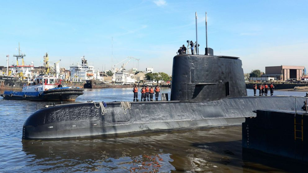 Argentine Navy loses communication with submarine carrying crew of 44