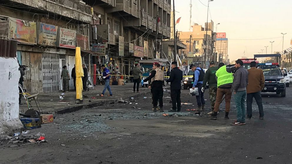 Twin suicide bombers kill at least 27 in Baghdad