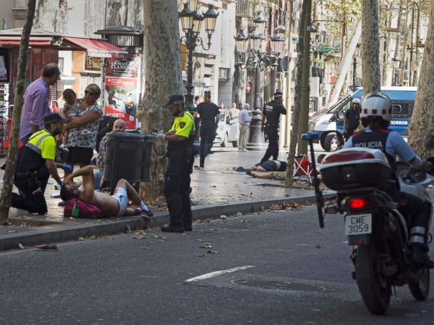5 'terrorists' dead in Spain police shootout after attacks killed 14, injured 100