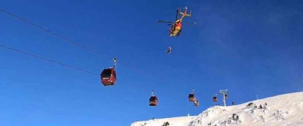 150 skiers rescued from stalled ski lift in the french for 2 story wheelchair lift
