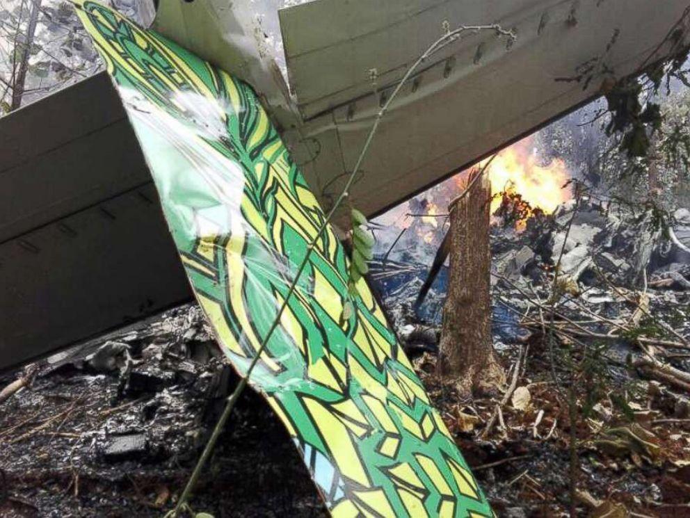 PHOTO: A plane crashed in Guanacaste, Costa Rica, in the Punta Islita area, Dec. 31, 2017.