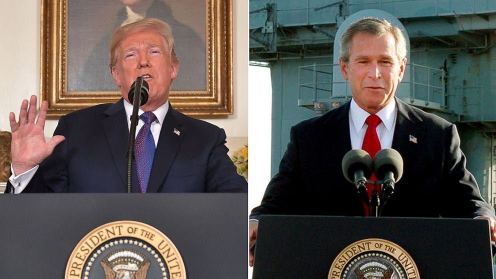 Following Syria missile strike, Trump tweets two words that haunted Bush: 'Mission Accomplished!'