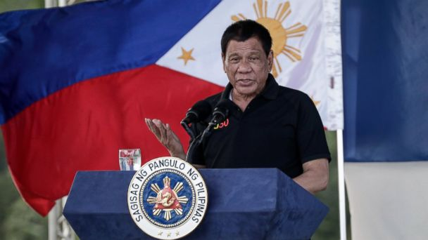 PHOTO: Philippine President Rodrigo Duterte speaks during the groundbreaking ceremony of a drug rehabilitation center in the province of Bukidnon, Northern Mindano, Philippines, March 25, 2017.