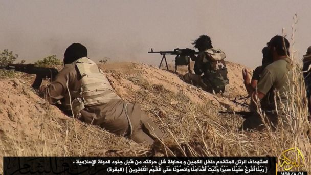 epa isis fighters western iraq jc 140624 16x9 608 Syrian War Planes Strike ISIS Targets in Iraq, US Says