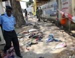 PHOTO: Clothes litter the scene of a stampede in Abidjan, Ivory Coast, Jan. 1, 2013.
