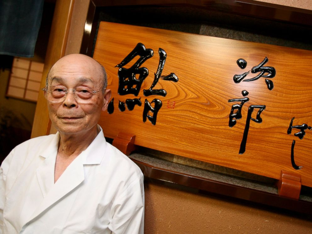 PHOTO: Jiro Ono, master sushi chief, stands in front of his sushi restaurant, Sukiyabashi Jiro, in Tokyo, Japan, in this Nov. 19, 2007 file photo.