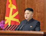 PHOTO: North Korean leader Kim Jong Un delivers a New Years Day address in Pyongyang, North Korea.