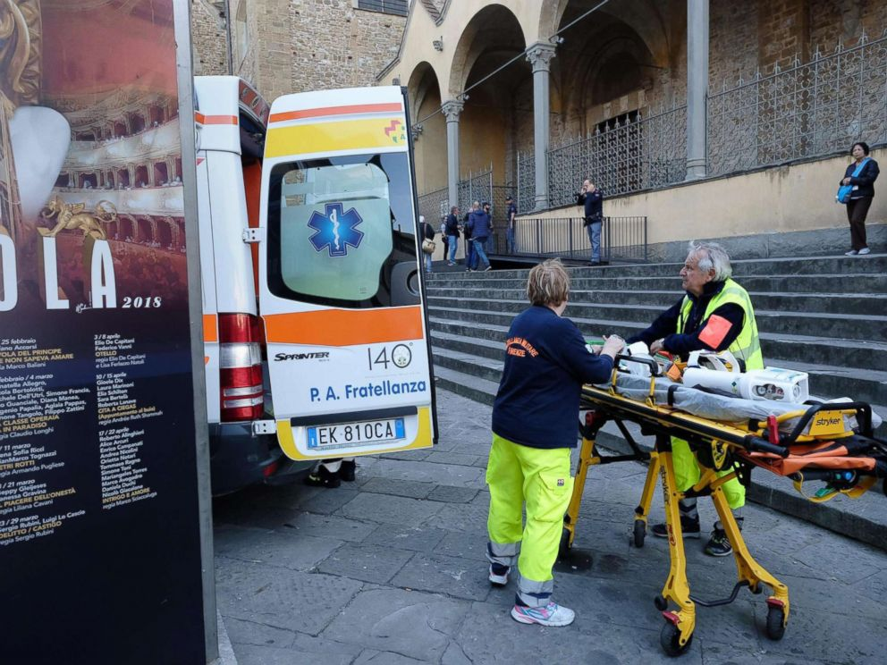 Tourist killed by falling masonry in Florence Basilica di Santa Croce