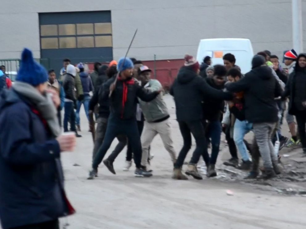 Five migrants shot in huge Calais brawl