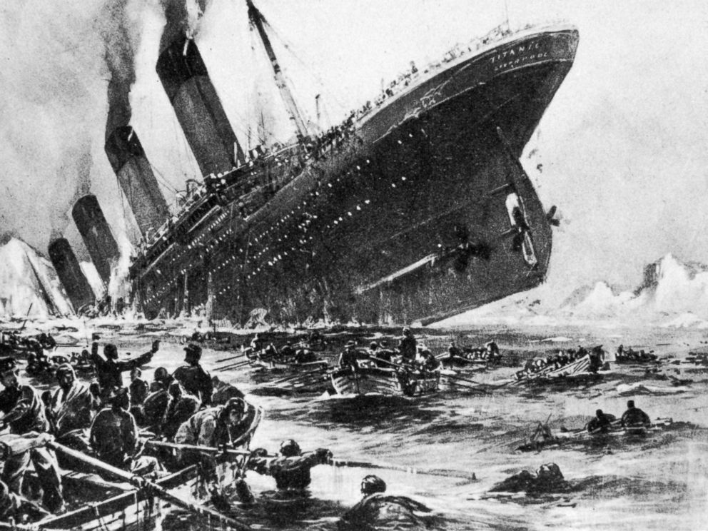 PHOTO: An image depicting the loss of the SS Titanic, April 14, 1912.